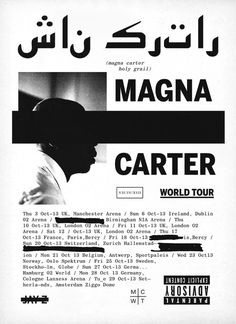 Graphic for JAY Z's Magna Carter World Tour 2013 For WP&A