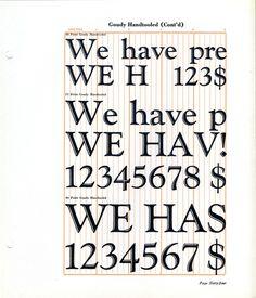 Goudy Handtooled type specimen #type #specimen #goudy