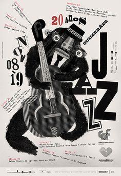 GUIMARÃES JAZZ 2011 POSTERS #design #typography