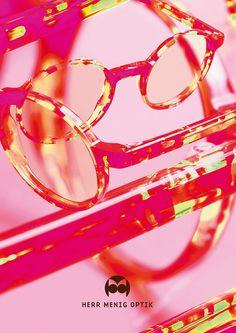 Ad illustration for Herr Menig Optik, an optician in Nürnberg Germany - www.philippzm.com #ad #illustration #glasses #axe #saw #leaves #opt