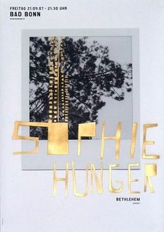 Sophie Hunger - Coboi #design #graphic #poster