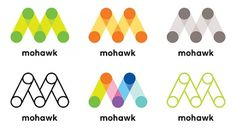 Mohawk Connects the Dots - Brand New #logo #identity #mohawk