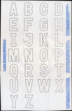 Dries Wiewauters #universelle #decoupee #typeface #plaqu