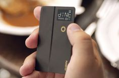The Coin combines all your cards into one. Now you can pay with your credit card, collect points on your rewards card, and withdraw cash fro #product #design #gadget #technology