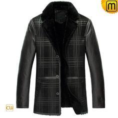Shearling Coat Sheepskin Jacket Mens CW852278