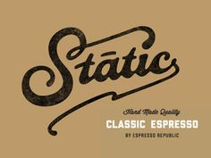 Static Coffeee #hkgiu