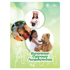 Summer Career Academies Student Pocket Folder #school #design #pocket #summer #kids #children #folder #green