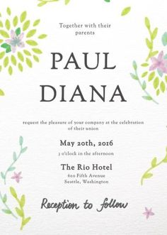 Spring - Wedding Invitations #paperlust #weddinginvitation #weddinginspiration #invitation #cards #paper #design #print #digitalcard #lette