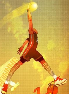 "Visual Stimulator, Hate Him or Love Him … the man has hops! ""Spring... #heat #lebron #james #illustration #spring #miami"