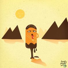 Lonelypeopleart :: drawing diary for lonely people - 24th Feb 2011 : Sunblock #icecream #illustration #summer #art #lonelypeopleart