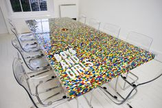 2012 Lego Boardroom Table Skeletal #interior #design #decor #home #furniture