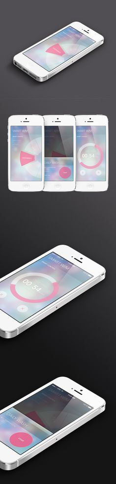 Smart washer app UI - would be interesting for timer UI #user #ios7 #interface #timer