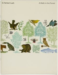 FFFFOUND! | Rolf Harder | Allan Peters #owl #bee #bird #illustration #animals #bear #forest #trees