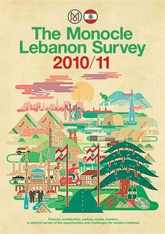 Monocle - Finland and Lebanon Surveys on the Behance Network #vesa #cover #illustration #survey #sammalisto #editorial #monocle