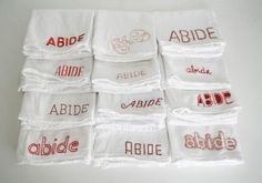 abide_intro #embroidery #typography