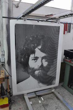 Back to Basics / Huge Silkscreen Print on Behance #giant #lines #print #screen #portrait #poster #huge
