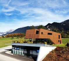 Physical Therapist´s Practice Merged With Modern Home in Austria #architecture #austria #modern