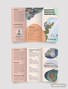 Resort Vacation Rental Tri-Fold Brochure Template
