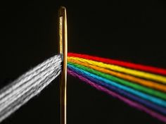 Dark Side of the Loom | Colossal #album #side #pink #of #the #cover #needle #photography #music #floyd #dark #moon