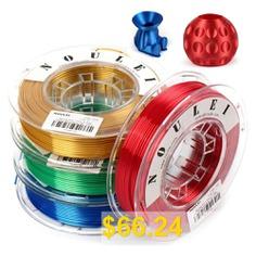 Noulei #3D #Printing #Filament #Silk #PLA #1.75mm #250g #4 #Spools #- #MULTI-K