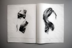 L'Etranger by Erika Altosaar | Brown Griffin Printed Editions #illustration #white #black #and