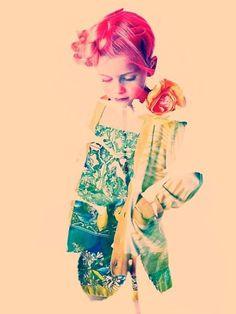 Rossy Glow by Piotr Motyka Kapka Pierwsze źródło modowej inspiracji #pattern #girl #photo #rose #glow #fashion