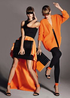 Maryna Linchuk & Cato van Ee by Cuneyt Akeroglu for Vogue Paris #fashion #model #photography #girl
