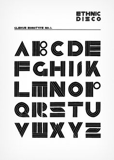 ethnic disco black.jpg 650×910 pixel #disco #monotype #glerum #typography #stefan #ethnic