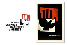 campaign against violence identity #logo #poster
