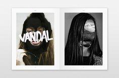 Magazine VANDAL #collage #blackwhite #vandal #magazine