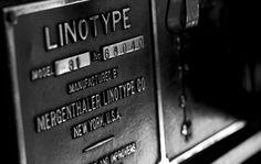 Linotype Film | typetoken® #type #plate