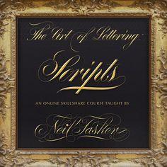 Skillshareposter—Neil Tasker #calligraphy #lettering #script #flourishes