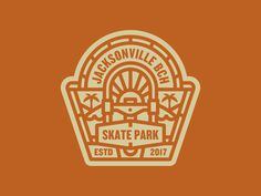Badge, branding, Jax Beach Skate Park