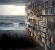 miranda-11 #sea #books #painting #floor