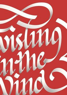 Twisting in the Wind on the Behance Network #typography