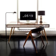 Mid Century Desk by Jeremiah Collection #tech #flow #gadget #gift #ideas #cool