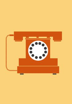 objects on Behance #graphics #illustration #retro #colourful #phone #telephone #yasemin yildirim
