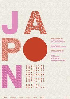 FESTIVAL JAPONAIS - Affiche #graphic design #poster