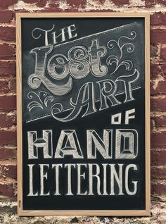 The Lost Art of Hand Lettering | Inspiration DE #lettering #design #chalk #illustration #art #type #hand #sketch #typography