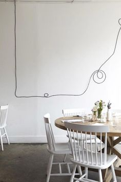 how to turn ugly electrical cords into a graphic element #cords #electrical