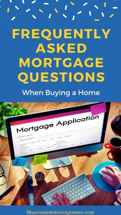 FAQ's About Mortgages When Buying a Home