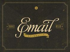Email Etiquette #cover #type #script #book