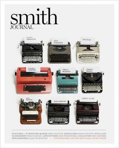 "UNTITLEDmagazine — teachingliteracy: bookmania: ""Men's magazine... #smith #writers #typewriters #journal"
