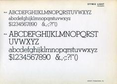 Stymie Light type specimen #type #specimen #typography
