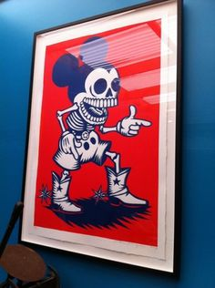 eyeone | seeking heaven #silkscreen #of #mano #the #press #printing #la #skulls #day #woodblock #dead