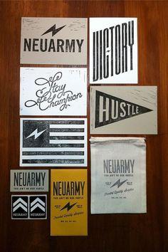 Linocuts | Neuarmy™ #handcut #neuarmy #prints #linocuts #typography