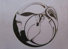 Untitled | Flickr - Photo Sharing! #abstract #face #circle #drawing