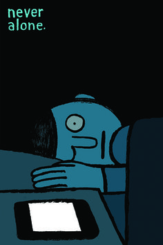 Creative Review Jean Jullien says, Allo? #illustration #phone #sleep