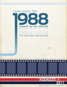 Eastern Design Bureau #mount #mitchell #retro #poster #film