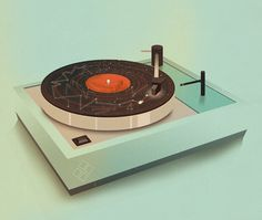 Jack Hughes Illustration - Galactic Plastic #illustration #record #vinyl